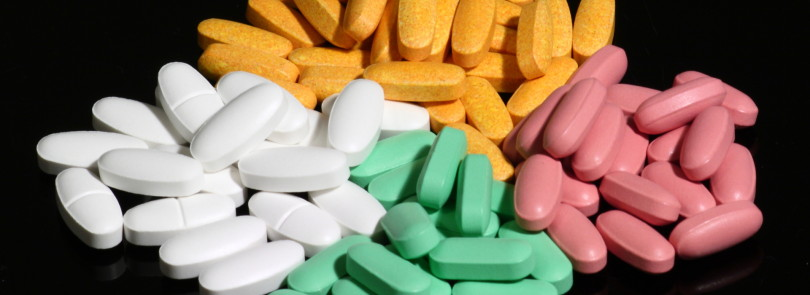 medicijnen in verschillende kleuren